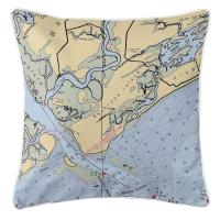 SC: Seabrook Island, SC Nautical Chart Pillow