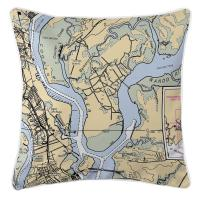 SC: Daniel Island, SC Nautical Chart Pillow