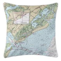 SC: Isle of Palms, SC Nautical Chart Pillow