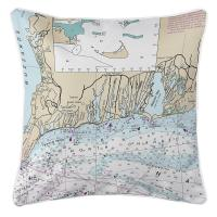 MA: East Falmouth, MA  Nautical Chart Pillow