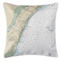 SC: Pawley's Island, SC Nautical Chart Pillow