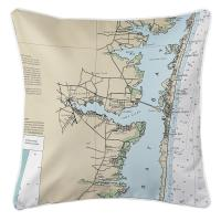 NJ: Toms River, NJ Nautical Chart Pillow