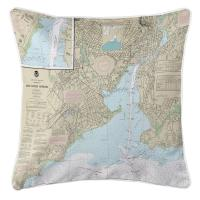 CT: New Haven, CT Nautical Chart Pillow