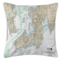 RI: Newport, RI Nautical Chart Pillow