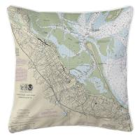 MA: Plymouth, MA Nautical Chart Pillow