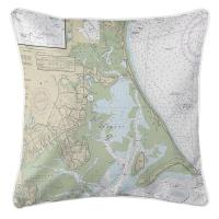 MA: Duxbury, MA Nautical Chart Pillow