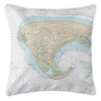 MA: Provincetown, MA Nautical Chart Pillow