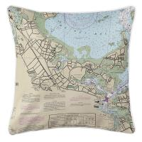 MA: Quincy, MA Nautical Chart Pillow