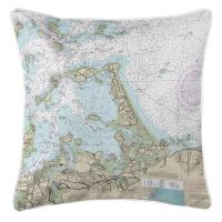 MA: Hull, MA Nautical Chart Pillow