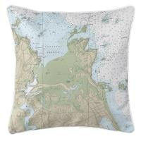 MA: Cohasset Harbor, MA Nautical Chart Pillow