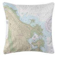 MA: Scituate Harbor, MA Nautical Chart Pillow