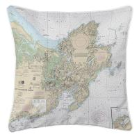 MA: Cape Ann, MA Nautical Chart Pillow