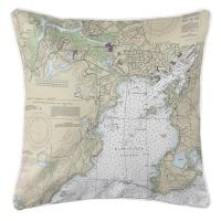 MA: Gloucester Harbor, MA Nautical Chart Pillow