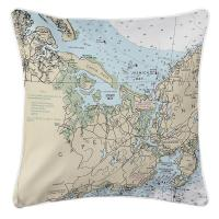MA: Essex, MA Nautical Chart Pillow