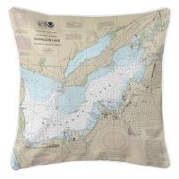 MI: Muskegon, MI Nautical Chart Pillow