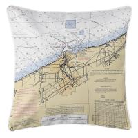OH: Ashtabula, OH Nautical Chart Pillow