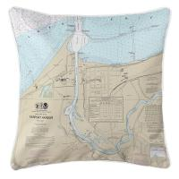 OH: Fairport Harbor, OH Nautical Chart Pillow