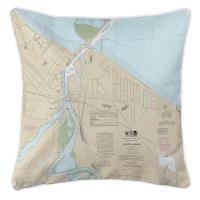 OH: Huron Harbor, OH Nautical Chart Pillow