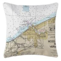 OH: Lorain, OH Nautical Chart Pillow