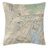 NJ: Newark, NJ Nautical Chart Pillow