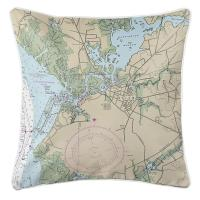 NJ: Salem, NJ Nautical Chart Pillow