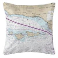 CA: Channel Islands, CA Nautical Chart Pillow