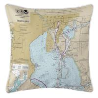FL: Harbour Island Tampa, FL Nautical Chart Pillow