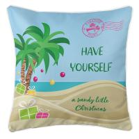 """Have Yourself A Sandy Little Christmas"" Pillow"