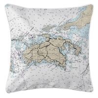 USVI: St. John, USVI Nautical Chart Pillow