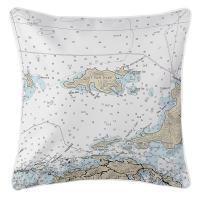 BVI: Jost Van Dyke, BVI Nautical Chart Pillow
