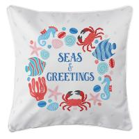 Ocean Drifters Christmas Pillow