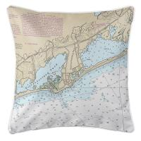 RI: Quonochontaug, RI Nautical Chart Pillow