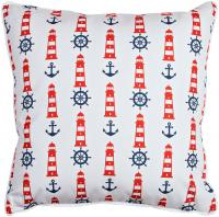 Captains Key - Lighthouse & Chevron Pillow