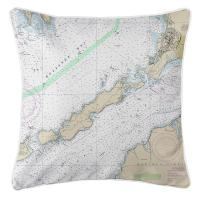 MA: Naushon Island, MA Nautical Chart Pillow