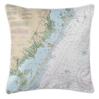 NJ: Long Beach Island, NJ Nautical Chart Pillow