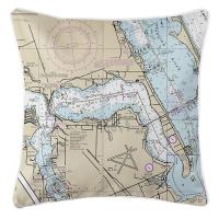FL: Stuart, Sewall's Point, FL Nautical Chart Pillow