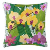 Orchid Garden Pillow