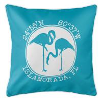 Personalized Coordinates Flamingo Pillow - Calypso