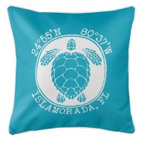 Personalized Coordinates Sea Turtle Pillow - Calypso