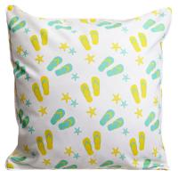 Layton Key - Flip Flops & Stripes Pillow