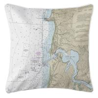 OR: Approaches to Yaquina Bay, OR (zoom in) Nautical Chart Pillow