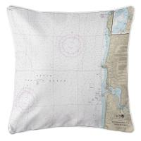 OR: Approaches to Yaquina Bay, OR Nautical Chart Pillow