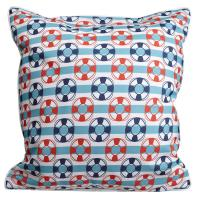 Sanibel - Sailboats & Life Rings Pillow
