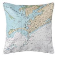 RI: Watch Hill, RI Nautical Chart Pillow