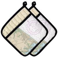 DE: Rehoboth Beach, DE Nautical Chart Pot Holder (Set of 2)