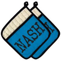 NASH Pot Holder (Set of 2) - Medium Blue