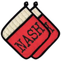 NASH Pot Holder (Set of 2) - Red