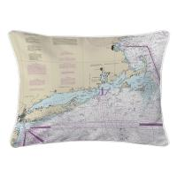 Long Island Sound, NY to Cape Cod, MA Nautical Chart Pillow
