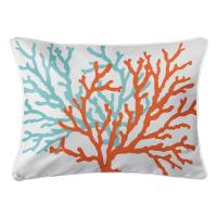 Coral Duo Lumbar Pillow