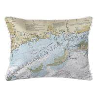 FL: Crystal Beach, Honeymoon Island, FL Nautical Chart Lumbar Pillow